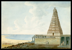 Hindu temple at Tiruchendur by the sea shore